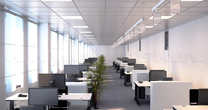 Организация системы освещения в офисе